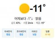 [오늘의 날씨] 전국 대체로 맑고, 충남·전라·제주 눈