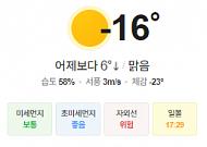 [오늘의 날씨] 종일 빙판길 주의...서해안 많은 눈 유의