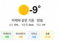 [오늘의 날씨] 낮부터 평년기온 회복