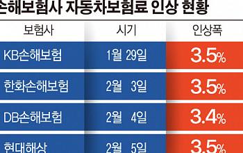 """[단독] """"車보험료 인상 대신 특약보험료 내려라""""…내달 손보사 인하 행렬"""