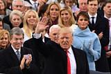[미국 트럼프 시대 개막] 환호와 열광 속 취임식
