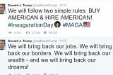 [미국 트럼프 시대 개막] 트럼프, 취임식 직후 '폭풍 트윗'...트위터 사랑 여전