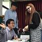 [BZ포토] 트와이스 나연, 떨리는 첫 대선 투표