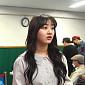 [BZ포토] 트와이스 지효, 긴장가득한 첫 대선 투표