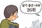 """[온라인 와글와글] '가장 살기 좋은 나라' 조사서 한국 2년 연속 26위…""""돈만 있으면 참 살기 좋은데"""""""