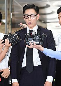 '대마 흡연 혐의' 빅뱅 탑, 선고 공판 참석