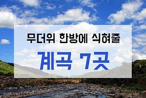 폭염 한방에 날려버릴 계곡 7곳 추천 (feat. 캠핑장)