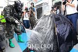 [포토] 지하철 독가스 살포 대응훈련