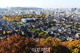 [포토]가을의 끝자락. 하늘에서 바라본 전주 한옥마을