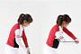 [김수현의 fun한 골프레슨]다운스윙 때 오른팔을 최대한 몸에 붙여라