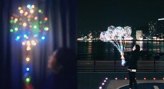 바닷가에서 들고 있으면 대존예라는 'LED풍선' 모음