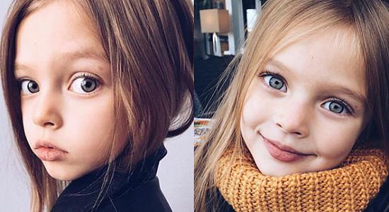 완성형 미모를 가지고 태어난 8살 러시아 소녀 '안나'