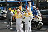[포토] 서창우 한국파파존스 회장, '2018 평창동계올림픽' 성화봉송 주차 참여