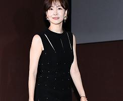 박효주, 독특한 절개 원피스