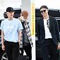 [BZ포토] 방탄소년단 진-슈가-RM, 여유로운 출국길