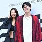 [BZ포토] 곽지영-김원중, 모델 부부의 수줍은 포즈