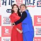 [BZ포토] 이은비-배기성 부부, 빨강-파랑 '태극 패션'