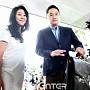 경찰서로 향하는 김부선과 변호사 강용석