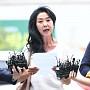 경찰 출석한 김부선, 준비해 온 입장문 발표