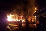 산청 사찰 화재, 대웅전도 무너져…
