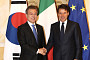 문 대통령, 이탈리아 총리와 정상회담…양국 '전략적 동반자 관계' 격상