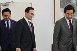 여야 원내대표, 국회 정상화 '합의 불발'…고용비리 세습 '이견'