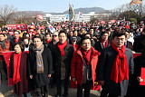 황교안·오세훈·김진태, 경남도청 앞 집결…여권 성토