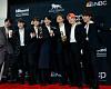 [포토] 방탄소년단(BTS), 빌보드 2관왕…뿌듯한 기념사진 촬영 현장