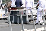 해군 청해부대 '최영함' 입항행사서 홋줄 터져 1명 사망·4명 부상