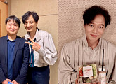 신재홍, 고영빈과 인증샷 찍고 뮤지컬 '시데레우스' 응원