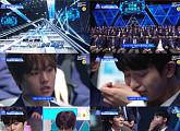 '프로듀스X101' 첫 순위 발표식...김요한X김우석, 직캠 영상 100만 뷰