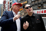 [포토] 오사카에 나타난 트럼프-김정은?