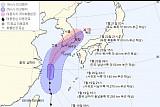 제5호 태풍 '다나스' 경로, 빠르게 북상…제주도 지나 남부지방 관통