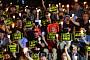 [포토] 구호 외치는 서울대 촛불집회 참가자들