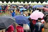 [포토] 건강서울 페스티벌, 서울광장 우산 행렬