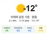 [오늘의 날씨] 전국 종일 영하권, 곳곳에 눈
