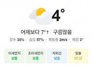 [오늘의 날씨] 대체로 흐리고 곳곳에 비