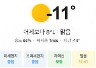 [오늘의 날씨] 대체로 맑고, 체감온도는 영하권