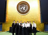 방탄소년단(BTS), 유엔총회서 미래세대 목소리 전파…'Permission to Dance' 열창