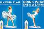 우유 만든 코카콜라, 섹시컨셉 광고에 구설수