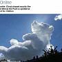 '곰돌이 푸' 구름 등장…아이들을 위한 선물?
