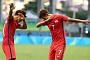 [리우올림픽] 한국-독일전 골 넣은 황희찬, 손흥민과 '댑 댄스 세리머니'