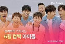 [비즈카드] 6월 컴백 아이돌 러시...워너원 블랙핑크 비투비 뉴이스트W 모모랜드