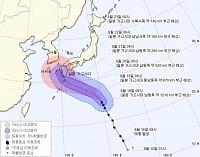 19호 태풍 '솔릭', 한반도 향해 북상중