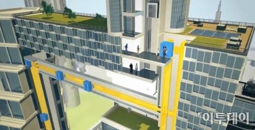 독일 기업, 케이블 없는 엘리베이터 발표…