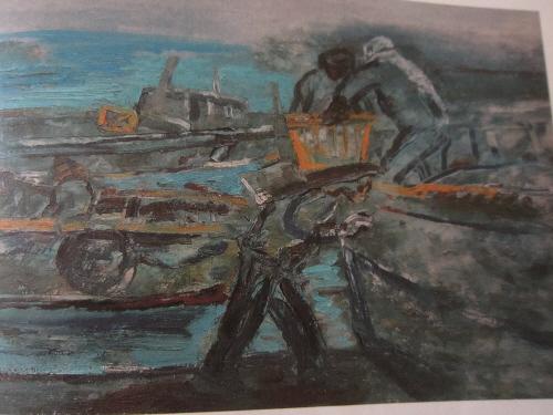 ▲외포리의 저녁. 김태 60.6 x45.5 캔버스에 유채 1978