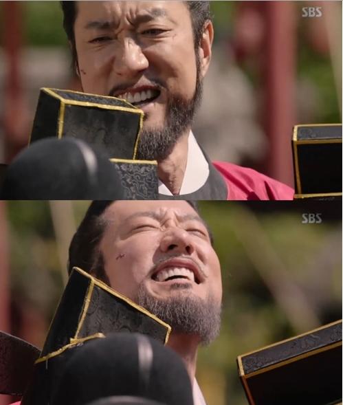 ▲배우 김명민 (출처=SBS '육룡이 나르샤' 방송화면 캡처 )