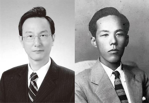 ▲손우현 한림대 국제학부 객원교수(왼쪽). 아버지 故손세원.