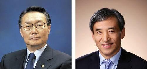 ▲김종량(왼쪽) 한양학원 이사장, 이주열 한국은행 총재