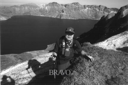 ▲2006년 대학 동기들과 함께 백두산 등정 갔을 때.